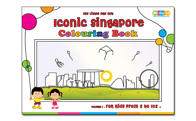 Little Day Out's Iconic Singapore Colouring Book