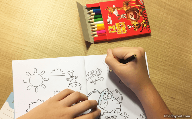Kids colouring pack, Holiday Inn Atrium