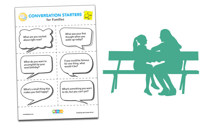 Family Conversation Starters For Kids Printable