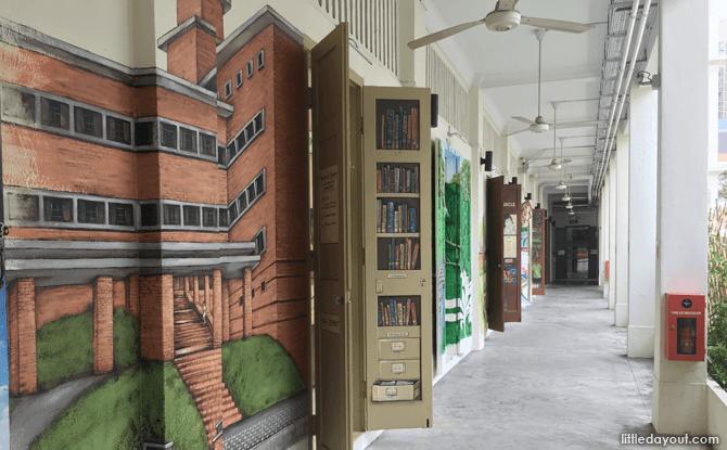 Corridor with Heritage Murals at 51 Waterloo Street