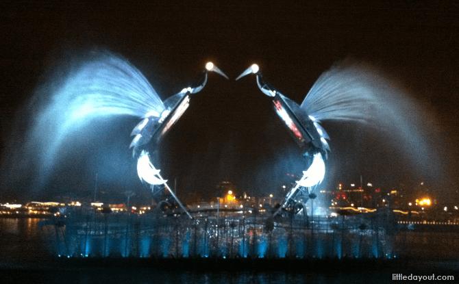 Crane Dance at Sentosa Waterfront