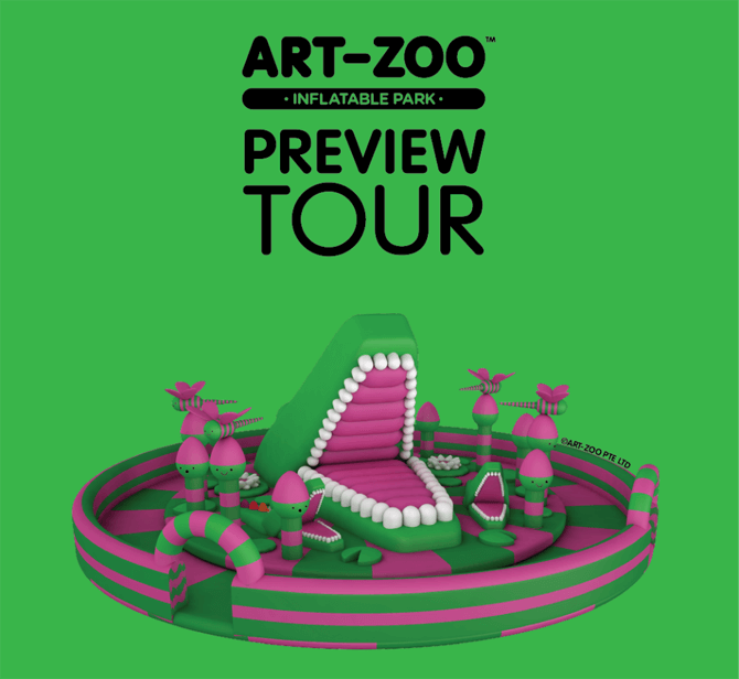 Art-Zoo Preview Tour Inflatables