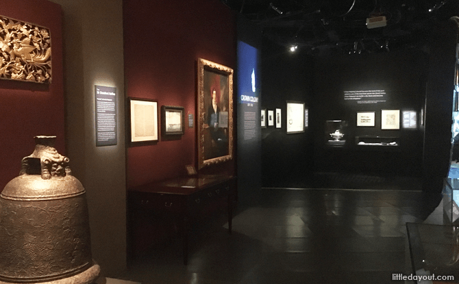 Crown Colony section of National Museum of Singapore's History Gallery