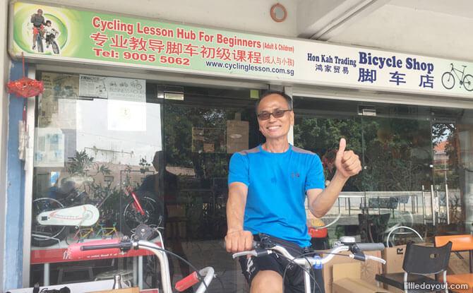 Edmund Lee, resident cycling guru at Hon Kah Trading