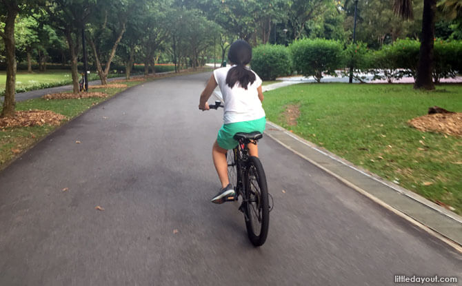 Cycling at West Coast Park