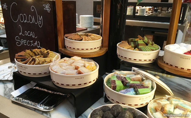 The mix of local kuehs and Western desserts at The Patisserie made for the perfect ending to our dinner.