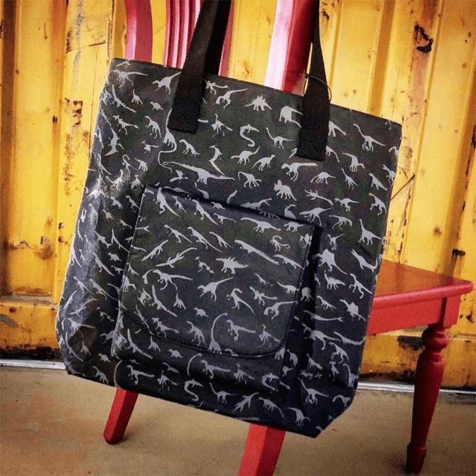 Dino Tyvek Tote Bag by Sheng Jie