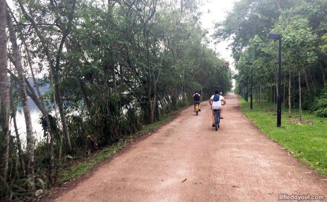 Dirt track at Lorong Halus