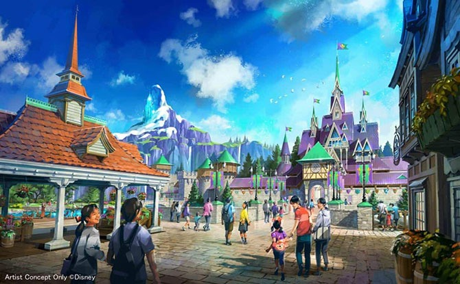 Tokyo DisneySea Gives A Peek Into Arendelle & Rapunzel's Tower At Fantasy Spring Themed Port Due To Open In 2023