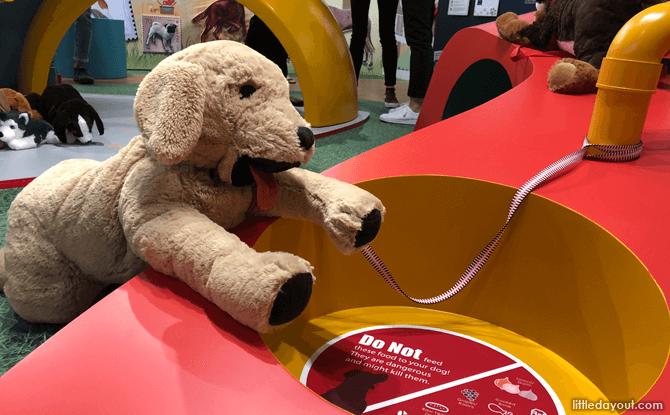 Dog toys around the Year of the Dog exhibition at Singapore Philatelic Museum