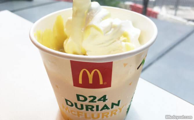McDonald's Durian McFlurry, Singapore
