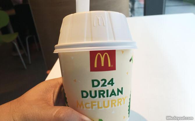 McDonald's D24 Durian McFlurry: Taste Test