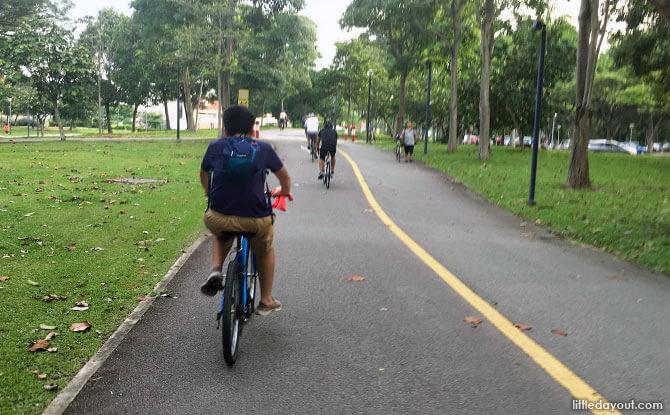 Cycling at East Coast Park