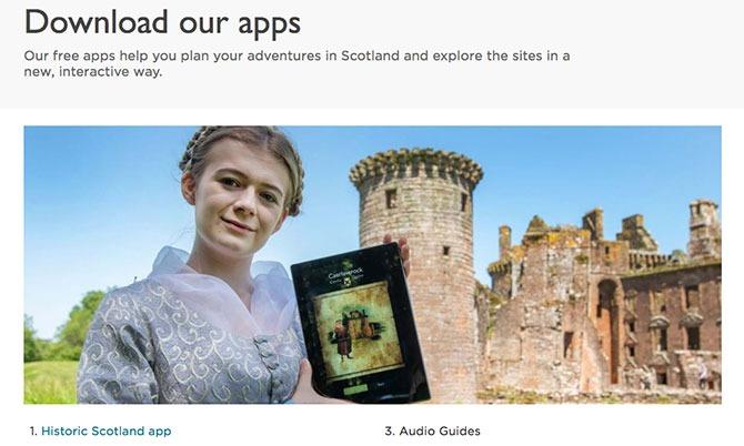 Edinburgh Castle audio guide
