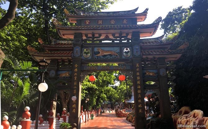 Archway entrance to Haw Par Villa