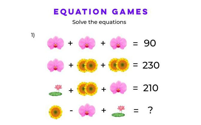 Flower Equations