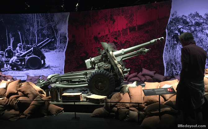 Field Gun on display at Witness to War Exhibition