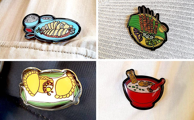 Get A Free SG Hawker Food Collector's Pin For A Limited Only At The Art Faculty