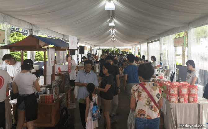 Food stalls at Festival of Edibles