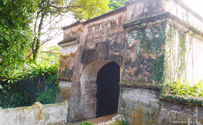 Fort Gate at Fort Canning Park Singapore