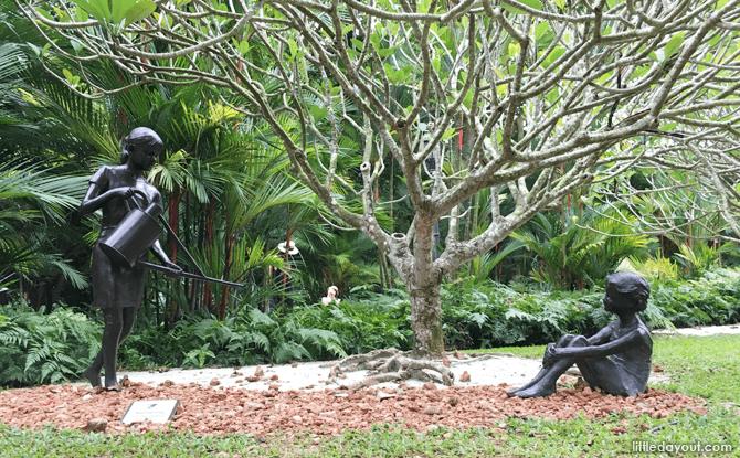 Vanessa Marston's Nurturing sculpture, Singapore Botanic Gardens