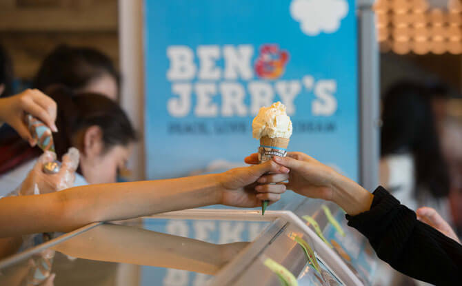 Free Ice Cream from Ben & Jerry's