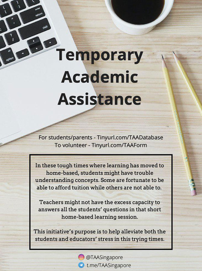Temporary Academic Assistance - Volunteers Start Initiative To Offer Needy Students Tuition Online