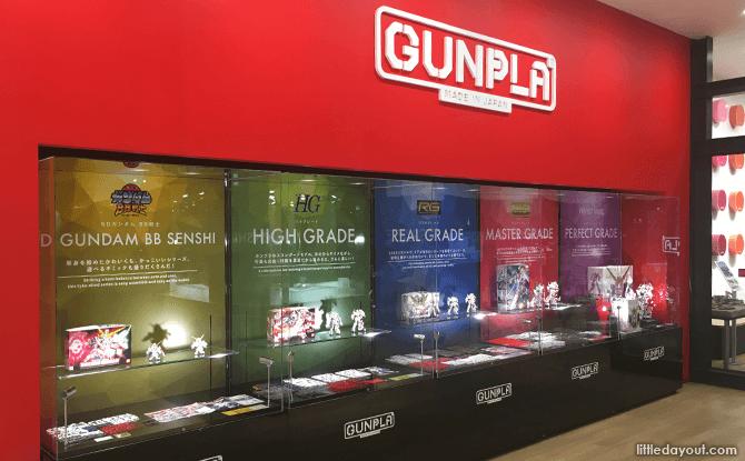 GunPla model kits of different grades