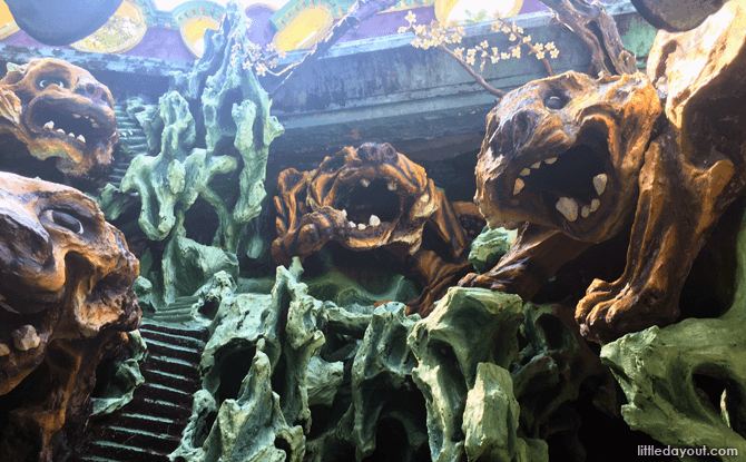 Inside the grotto