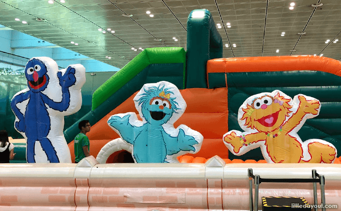 Inflatable Playground, Changi Airport Terminal 3, March School Holidays 2018