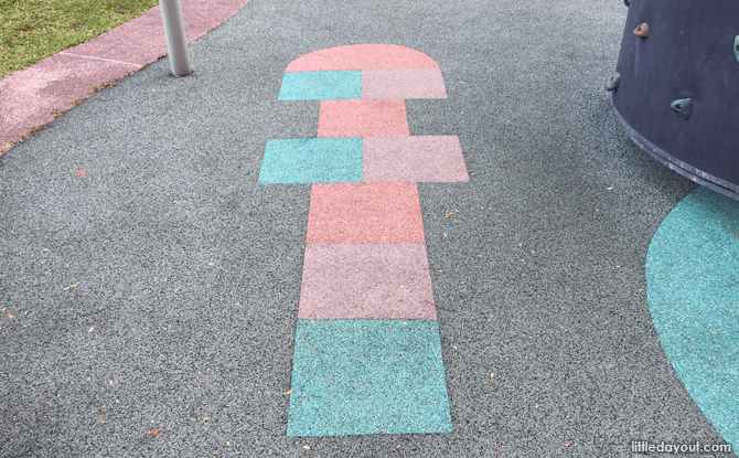 Hopscotch at one-north's children's playground