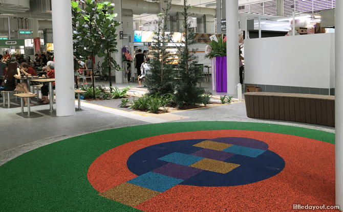 Hopscotch area at Yishun Park Hawker Centre