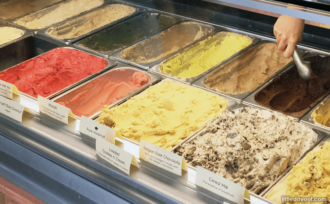 Ice Cream Flavours at Kindred Folk