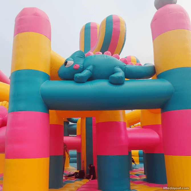 Bouncy inflatables at Art-Zoo 2018