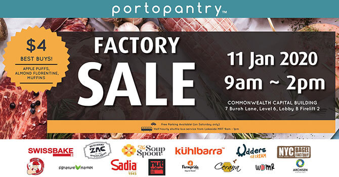 Portopantry Factory Sale - CNY Factory Shopping & Warehouse Sales 2020