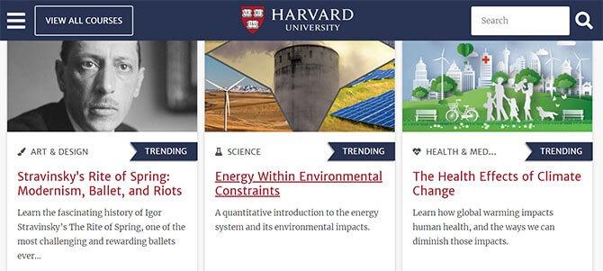 Harvard University's Free Courses