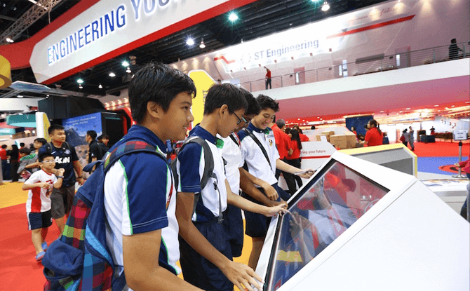 Indoor Exhibits at Singapore Airshow