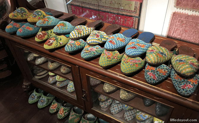 Beaded Peranakan slippers