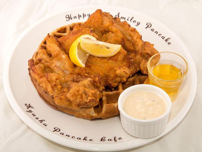 Chicken Karaage Waffles