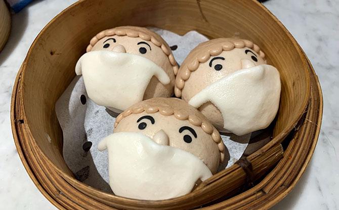 Yum Cha Restaurant Has Baos Which Wear Masks