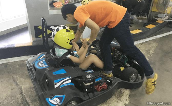 Kids kart at Easykart, Bangkok