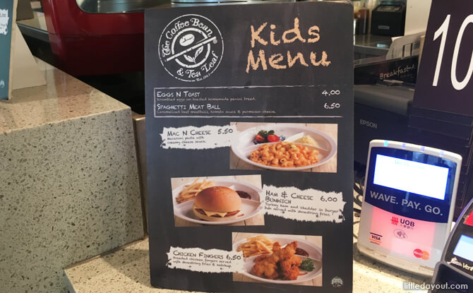 Kids Menu at Coffee Bean Marine Cove
