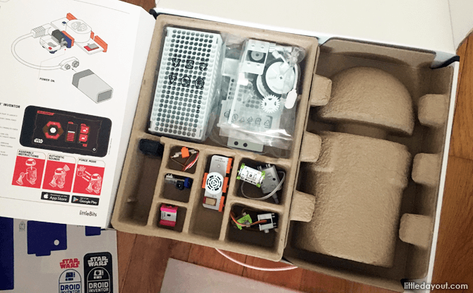 littleBits Droid Inventor Kit Components