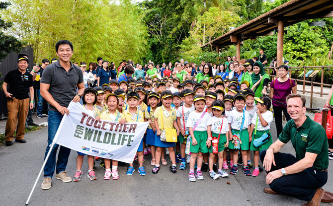 Launch of Wildlife Reserve Singapore's wildlife conservation campaign wit #TogetherforWildlife