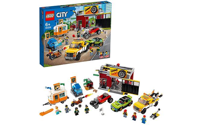 LEGO City Nitro Wheels Tuning Workshop Building Kit (897 Pieces)