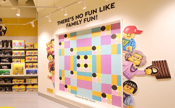 LEGO DOTS display wall