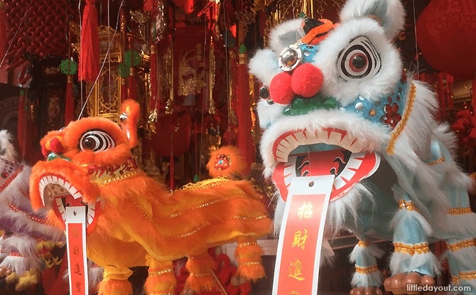 Chinese New Year Decorations - Lion Dance Lions