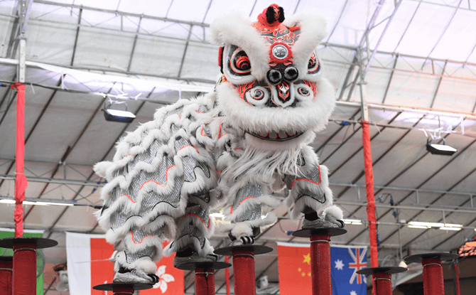 Lion dance performances in Singapore
