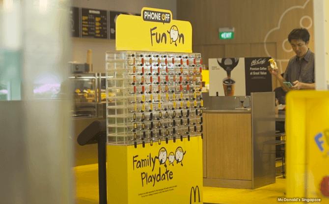 McDonald's Singapore's Mobile Device Lockers