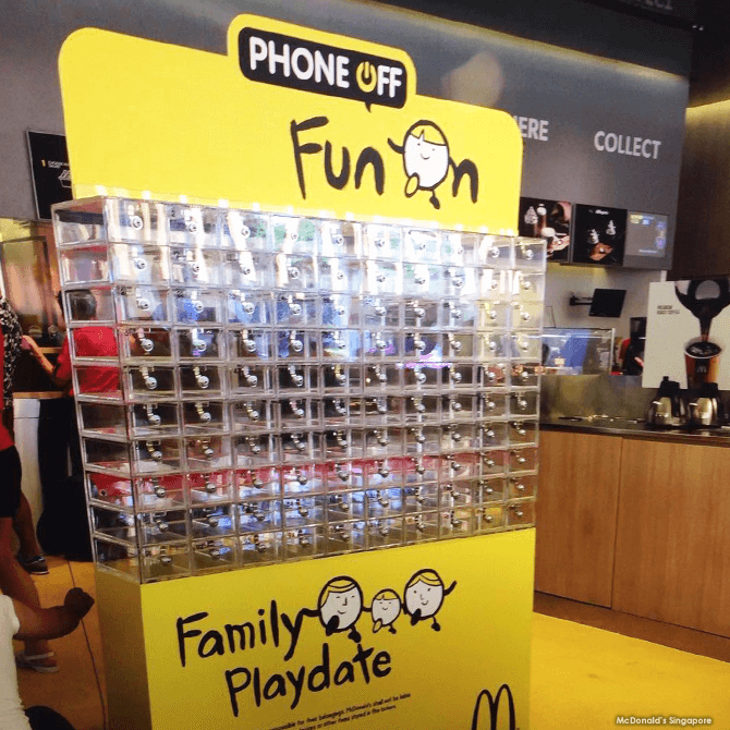 Phone Off, Fun On Lockers. McDonald's Marine Cove's Mobile Device Lockers